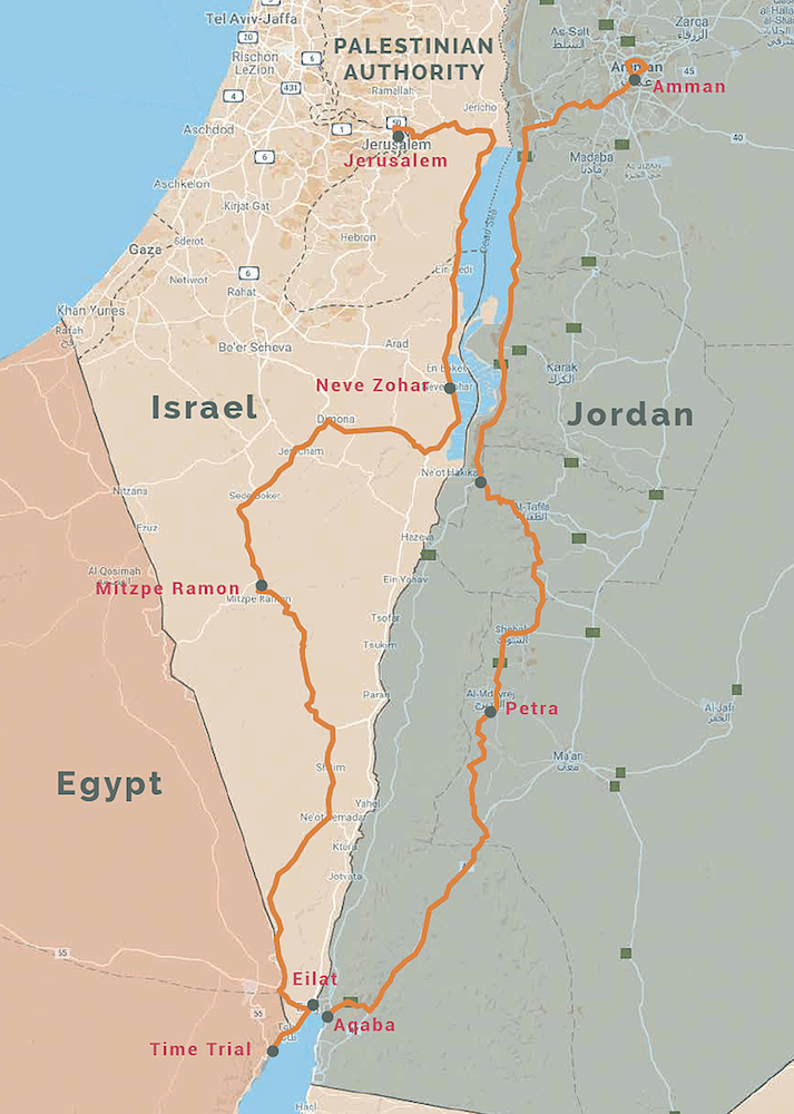 Middle East Peace Tour Map